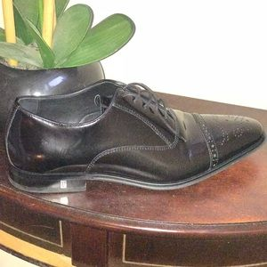 c001722f78b Versace Collection Shoes - Men s Versace Spazzolato Leather Cap-toe Oxford